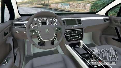 GTA 5 Peugeot 508 traseira direita vista lateral