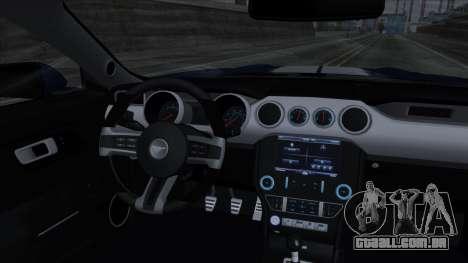 Ford Mustang Shelby GT350R 2016 para GTA San Andreas interior