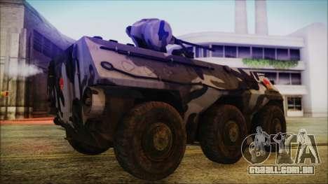 Norinco Type 92 from Mercenaries 2 para GTA San Andreas traseira esquerda vista