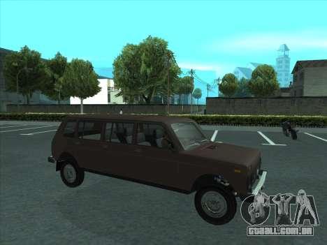 VAZ 2131 Samudera para vista lateral GTA San Andreas