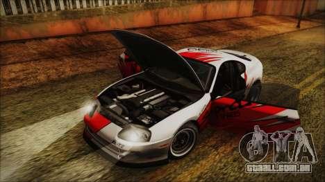 Toyota Supra JZA80 Kantai Collection Haruna PJ para vista lateral GTA San Andreas