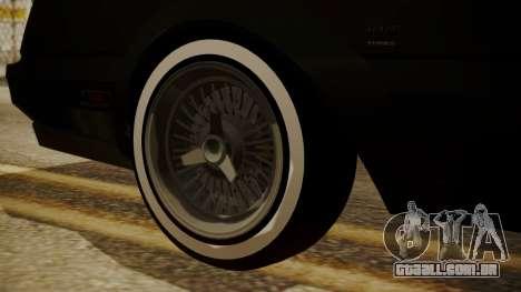 GTA 5 Faction Stock DLC LowRider para GTA San Andreas vista direita