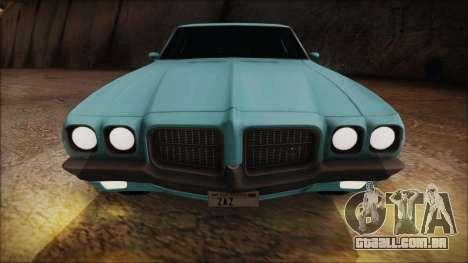 Pontiac Lemans Hardtop Coupe 1971 para GTA San Andreas vista traseira