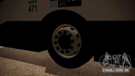 Todo Bus Agrale MT17.0LE AA para GTA San Andreas traseira esquerda vista