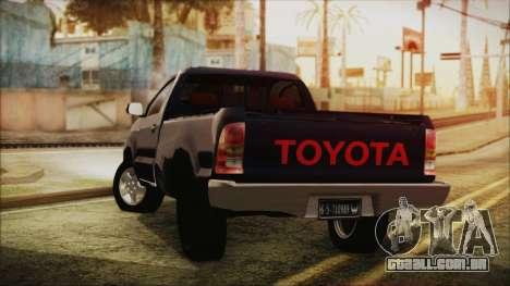 Toyota Hilux 2015 v2 para GTA San Andreas esquerda vista
