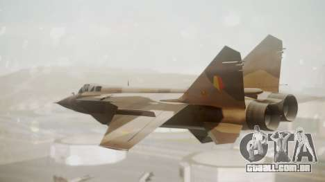 Mikoyan MiG-31 Yuktobanian Air Force para GTA San Andreas esquerda vista