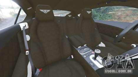GTA 5 Bentley Continental GT 2012 v1.1 vista lateral direita