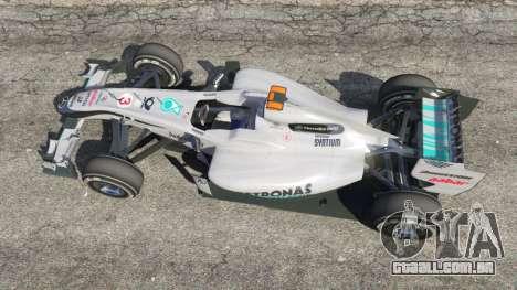 GTA 5 A Mercedes-Benz MGP W01 [Michael Schumacher] v1. voltar vista