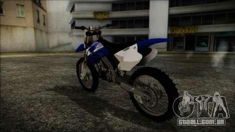 Yamaha YZ250 para GTA San Andreas esquerda vista