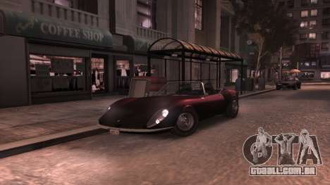 GTA V Stinger Classic para GTA 4 vista interior