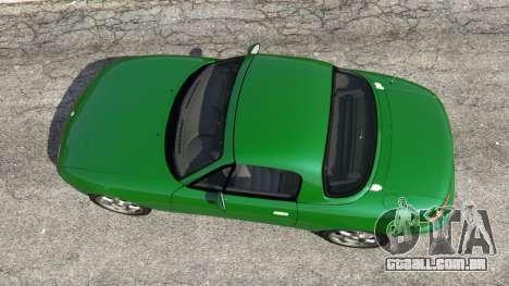 GTA 5 Mazda Miata MX-5 voltar vista