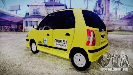 Hyundai Atos Taxi Colombiano para GTA San Andreas esquerda vista