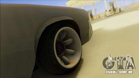 Sabre Race Edition para GTA San Andreas vista superior