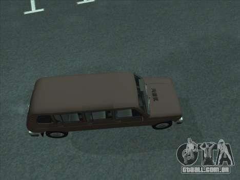 VAZ 2131 Samudera para GTA San Andreas traseira esquerda vista