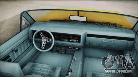 GTA 5 Albany Buccaneer Custom para GTA San Andreas traseira esquerda vista