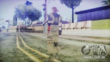MGSV Phantom Pain Snake Normal Olive Drab para GTA San Andreas terceira tela