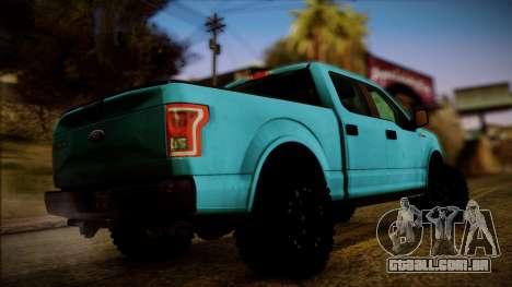 Ford F-150 4x4 2015 para GTA San Andreas esquerda vista