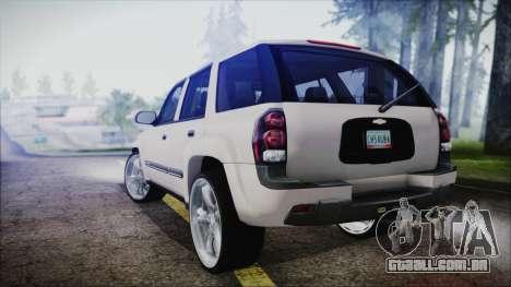 Chevrolet Triblazer para GTA San Andreas esquerda vista
