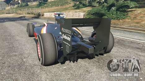 GTA 5 Hispania F110 (HRT F110) v1.1 traseira vista lateral esquerda