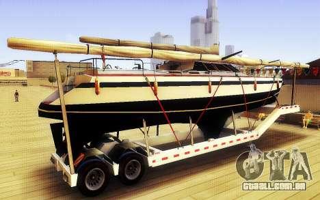 GTA V Grande Reboque do Barco para GTA San Andreas esquerda vista