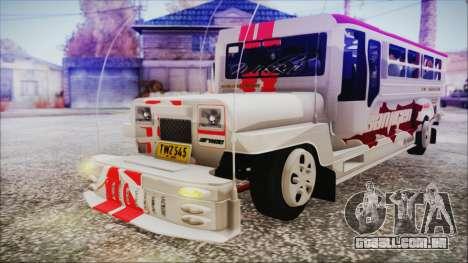 Hataw Motor Works Jeepney para GTA San Andreas vista direita