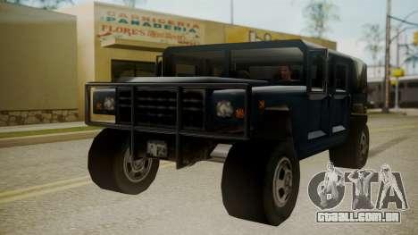 Patriot III para GTA San Andreas vista direita