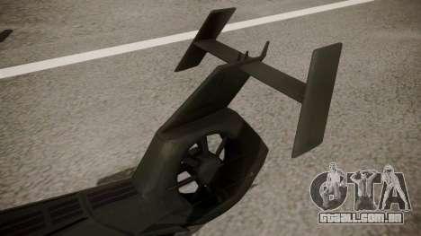 AH-99 Blackfoot para GTA San Andreas traseira esquerda vista