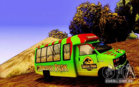 Jurassic Park Tour Bus para GTA San Andreas esquerda vista