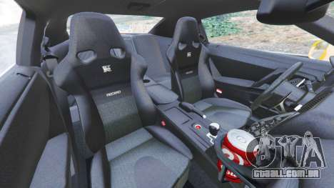 GTA 5 Nissan GT-R (R35) [LibertyWalk] vista lateral direita