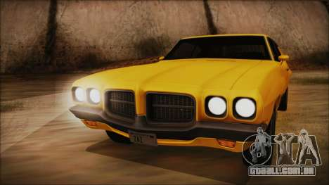 Pontiac Lemans Cupê Hardtop 1971 FIV АПП para GTA San Andreas traseira esquerda vista