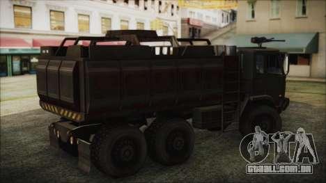 Archer Gun Truck para GTA San Andreas traseira esquerda vista
