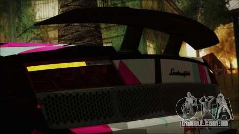 Lamborghini Gallardo LP570-4 2015 Miku Racing 4K para GTA San Andreas vista interior