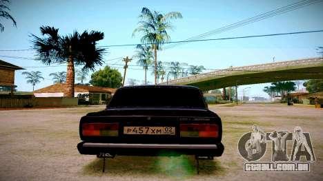 ВАЗ 2107 Luz Tuning para GTA San Andreas traseira esquerda vista