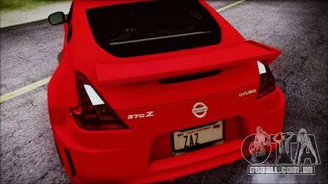 Nissan 370Z Nismo 2010 Angel Beats Itasha para GTA San Andreas vista superior