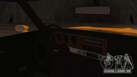 Pontiac Lemans Cupê Hardtop 1971 FIV АПП para GTA San Andreas vista direita