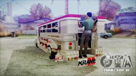 Hataw Motor Works Jeepney para GTA San Andreas esquerda vista