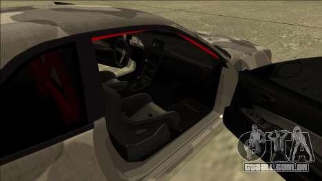 Nissan Skyline R34 Army Drift para GTA San Andreas vista traseira