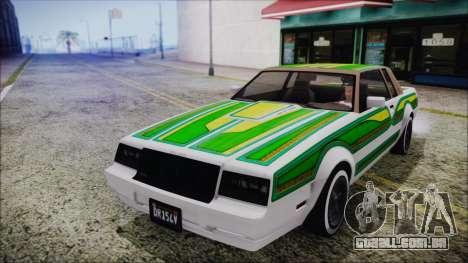 GTA 5 Willard Faction Custom without Extra IVF para GTA San Andreas vista interior