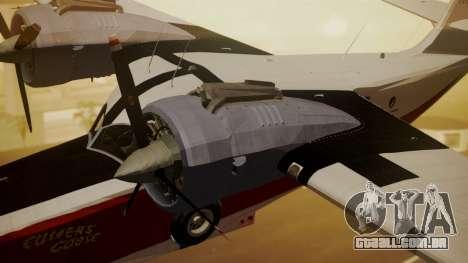 Grumman G-21 Goose NC327 Cutter Goose para GTA San Andreas vista direita
