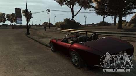 GTA V Stinger Classic para GTA 4 traseira esquerda vista