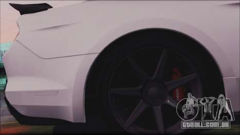 Ford Mustang Shelby GT350R 2016 para GTA San Andreas vista superior