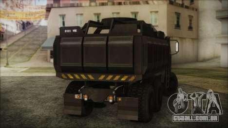 Archer Gun Truck para GTA San Andreas esquerda vista