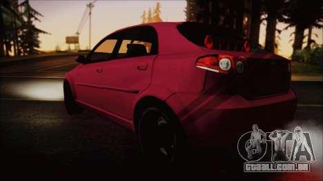 Chevrolet Aveo para GTA San Andreas esquerda vista
