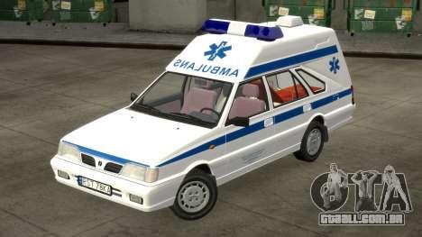 Daewoo-FSO Polonez Carga de Ambulância de 1999 para GTA 4