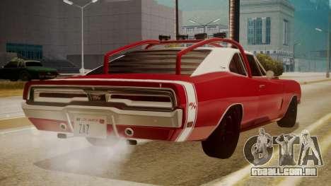 Dodge Charger O Death RT 1969 para GTA San Andreas esquerda vista