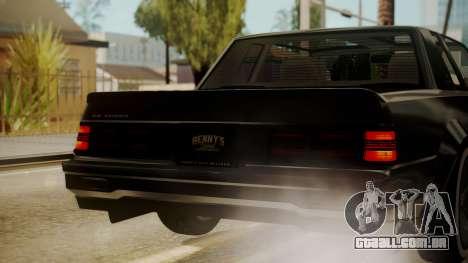 GTA 5 Faction Stock DLC LowRider para GTA San Andreas vista inferior