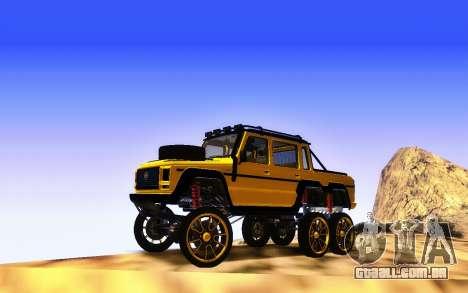 Benfeitor Dubsta 6x6 Ajuste Personalizado para GTA San Andreas