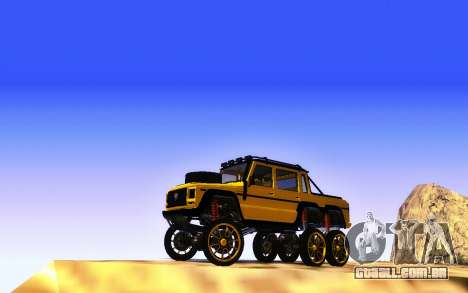 Benfeitor Dubsta 6x6 Ajuste Personalizado para GTA San Andreas vista traseira