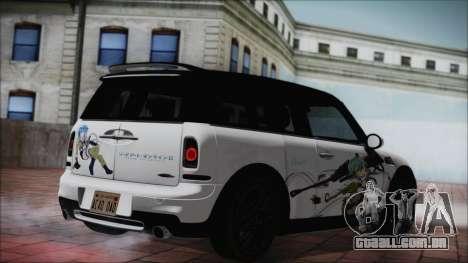 Mini Cooper Clubman 2011 Itasha para GTA San Andreas esquerda vista
