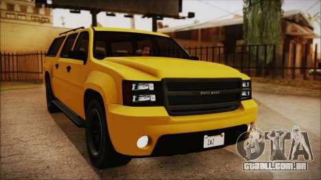 GTA 5 Declasse Granger IVF para GTA San Andreas vista traseira